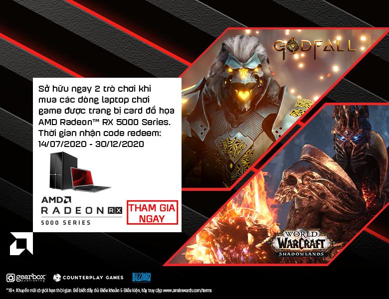 SỞ HỮU RADEON RX 5000M SERIES - NHẬN NGAY GAME KHỦNG